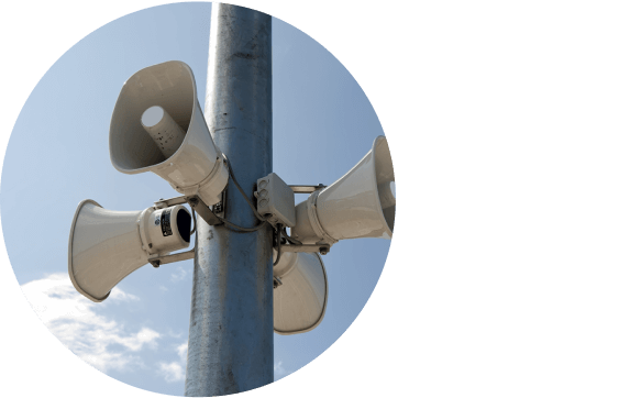 Monitoring the status of the municipality's warning system